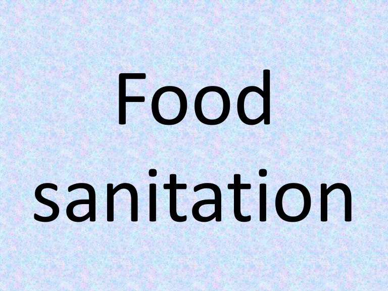 ford county public health department food sanitation program